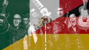 I Rammstein con bandiere